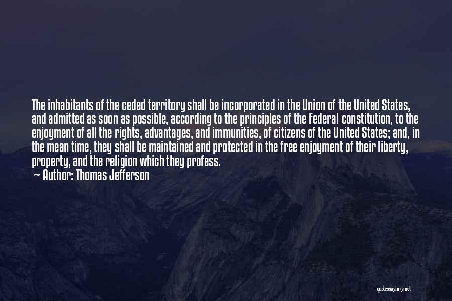 Incorporated Quotes By Thomas Jefferson