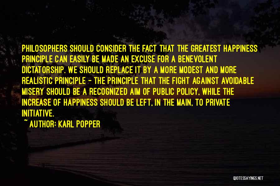 Increase Happiness Quotes By Karl Popper
