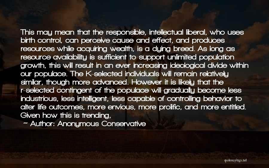 Increasing Population Quotes By Anonymous Conservative