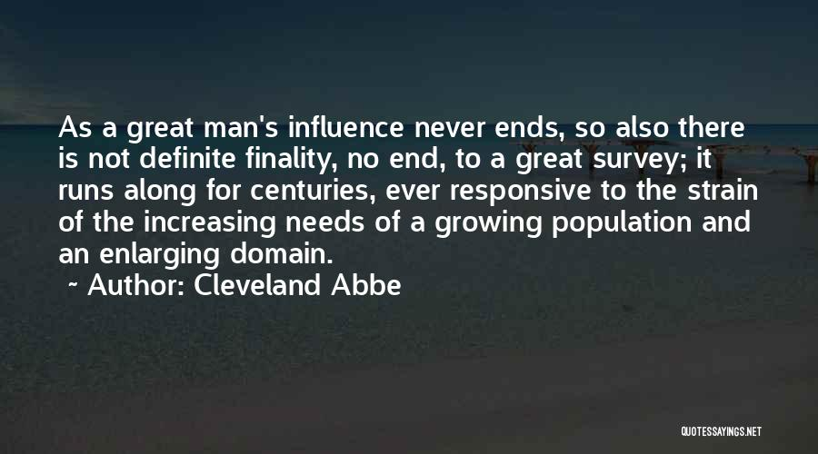 Increasing Population Quotes By Cleveland Abbe