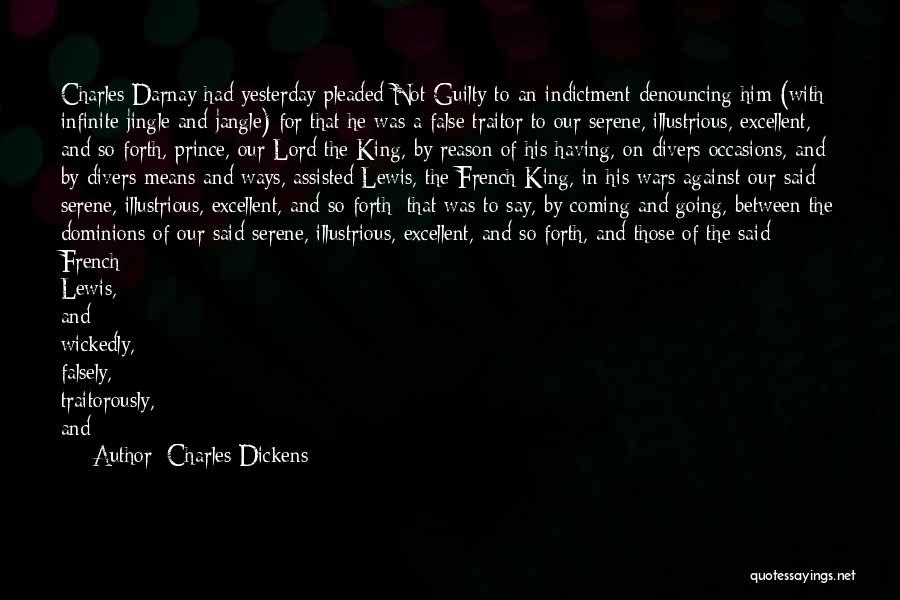 Indictment Quotes By Charles Dickens