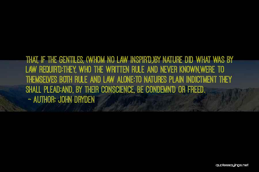 Indictment Quotes By John Dryden
