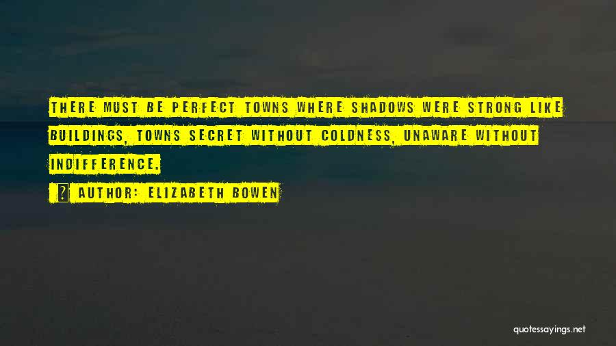 Indifference Coldness Quotes By Elizabeth Bowen