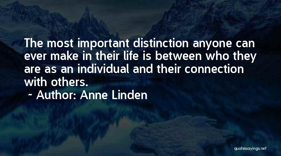 Individual Quotes By Anne Linden