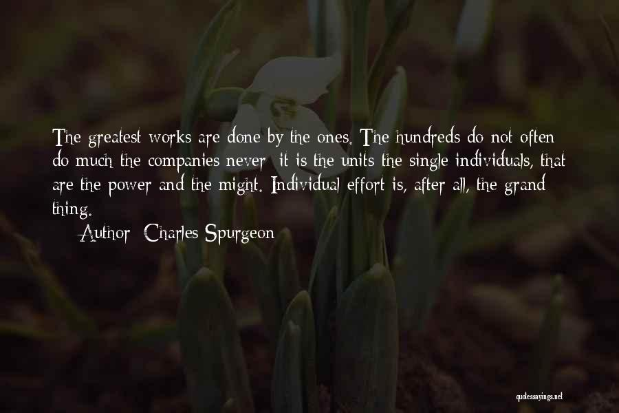 Individual Quotes By Charles Spurgeon