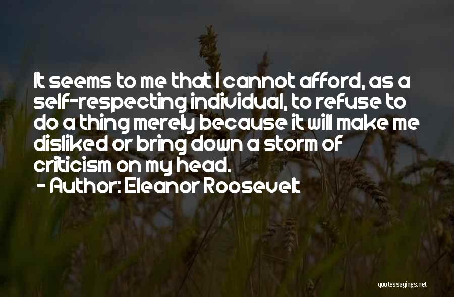 Individual Quotes By Eleanor Roosevelt