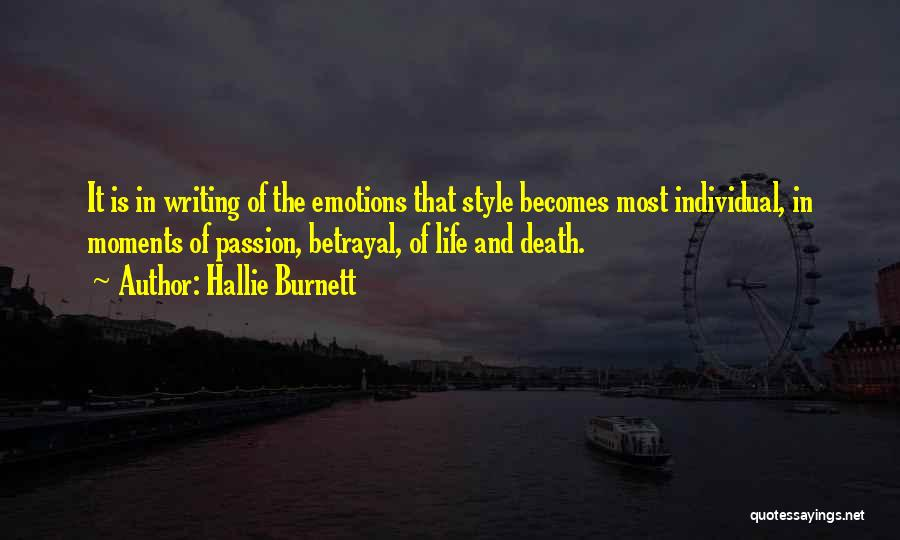 Individual Quotes By Hallie Burnett