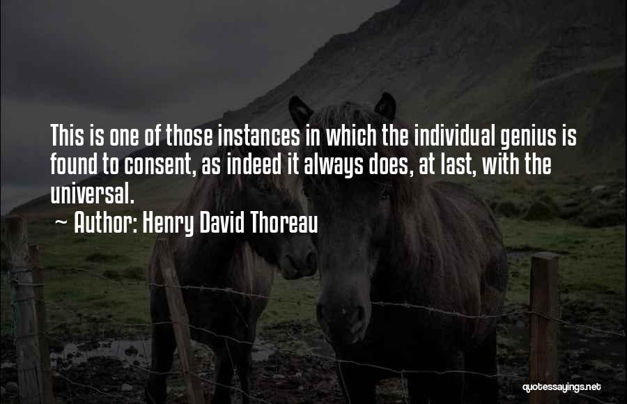 Individual Quotes By Henry David Thoreau