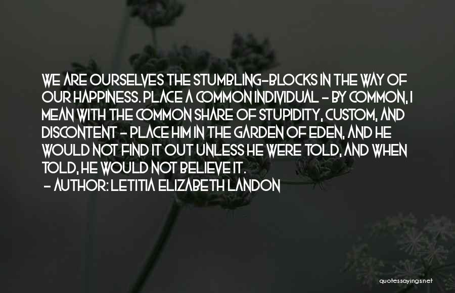 Individual Quotes By Letitia Elizabeth Landon