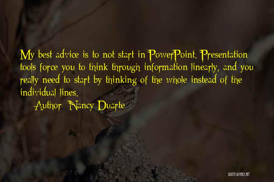 Individual Quotes By Nancy Duarte