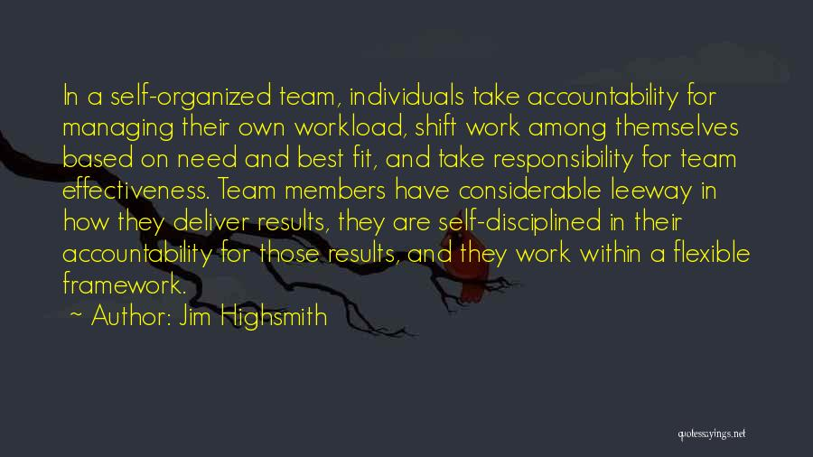 Individuals And Team Quotes By Jim Highsmith