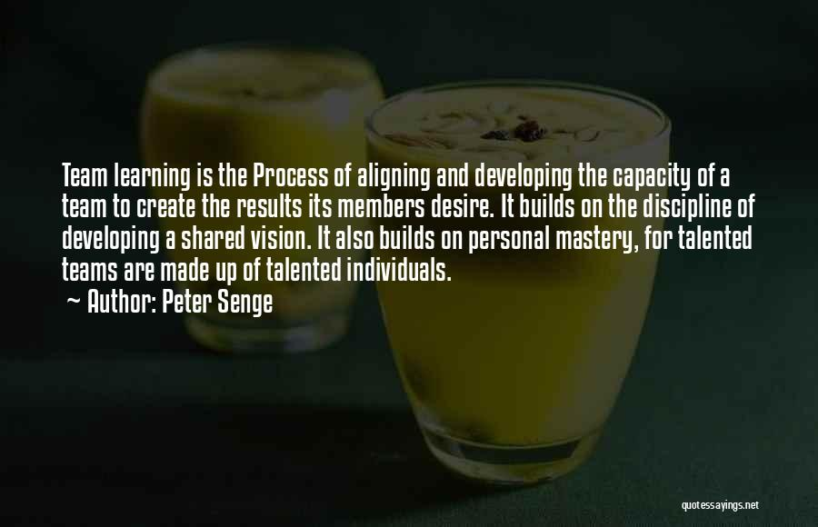 Individuals And Team Quotes By Peter Senge