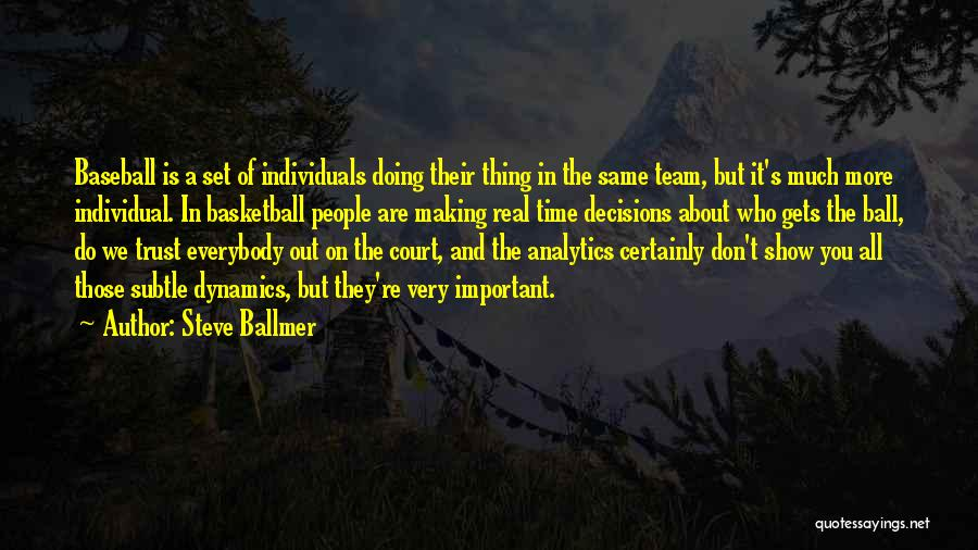 Individuals And Team Quotes By Steve Ballmer
