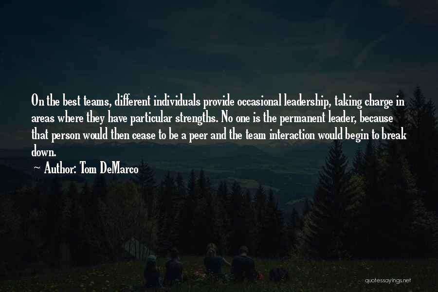 Individuals And Team Quotes By Tom DeMarco
