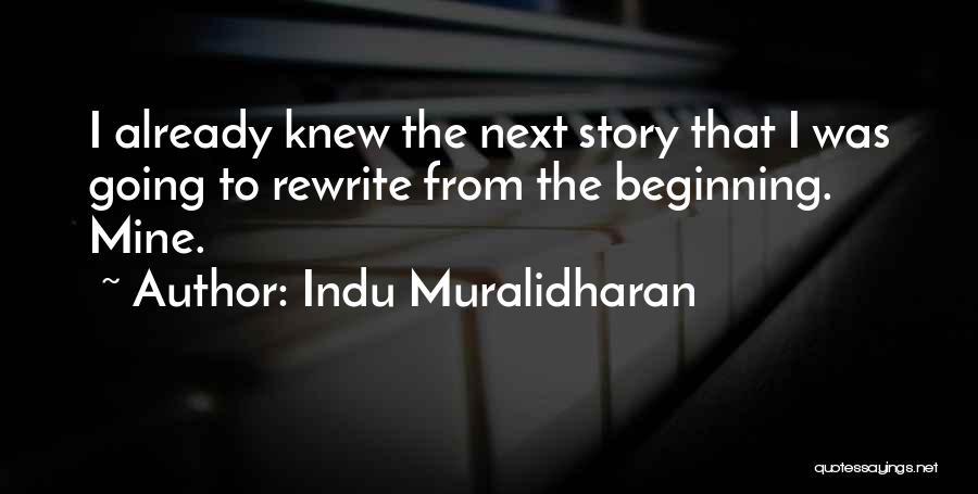 Indu Muralidharan Quotes 1237089