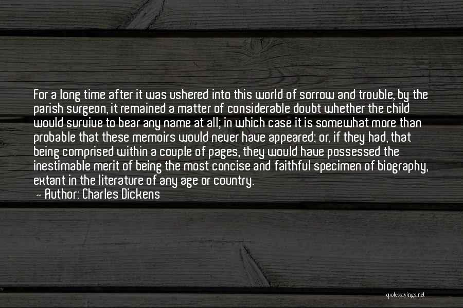 Inestimable Quotes By Charles Dickens