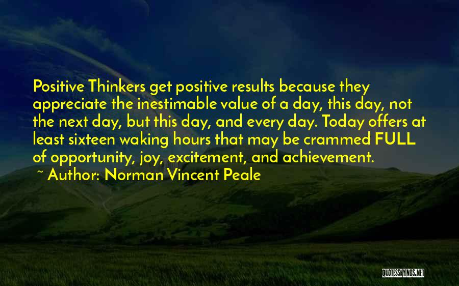 Inestimable Quotes By Norman Vincent Peale