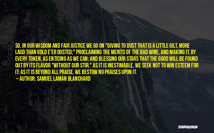 Inestimable Quotes By Samuel Laman Blanchard