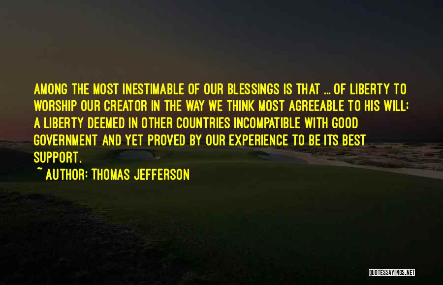Inestimable Quotes By Thomas Jefferson