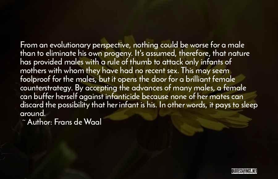 Infant Quotes By Frans De Waal