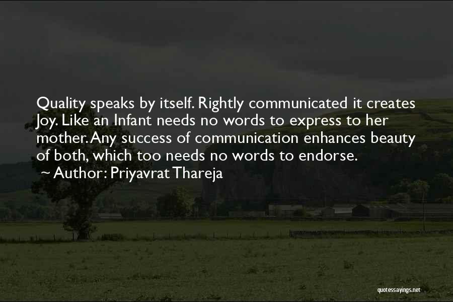 Infant Quotes By Priyavrat Thareja