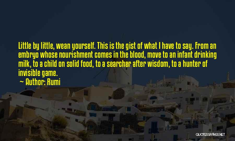 Infant Quotes By Rumi