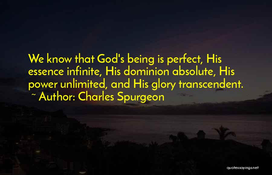 Infinite Power Quotes By Charles Spurgeon