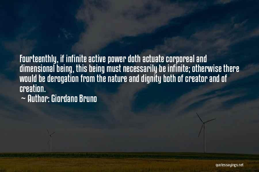 Infinite Power Quotes By Giordano Bruno