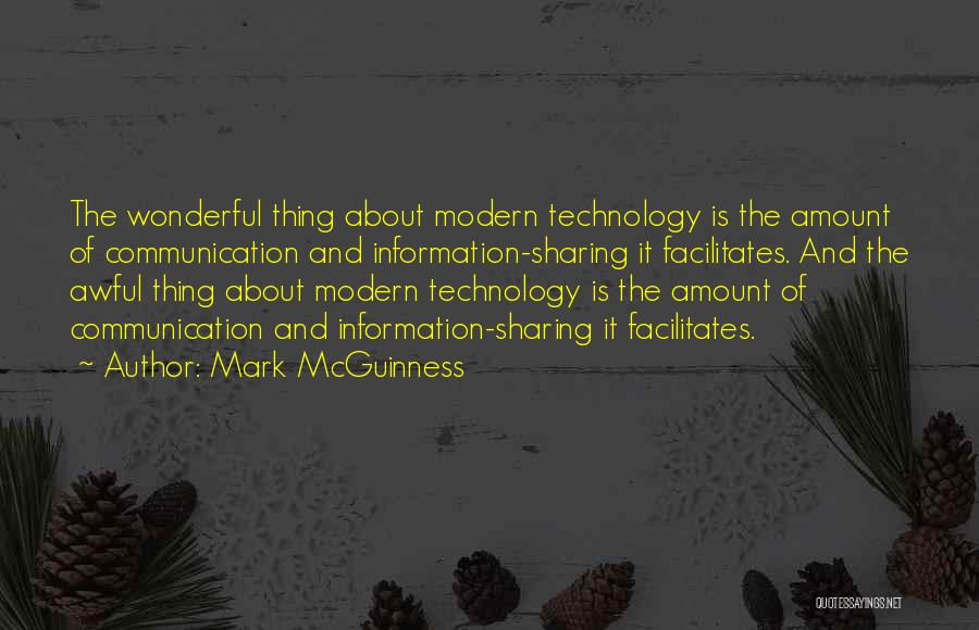 Information Communication Technology Quotes By Mark McGuinness