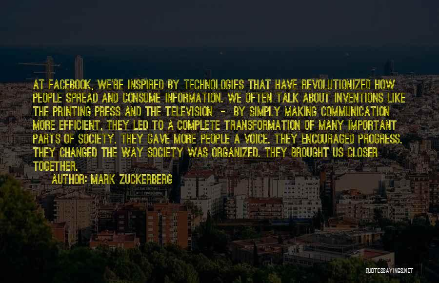 Information Communication Technology Quotes By Mark Zuckerberg