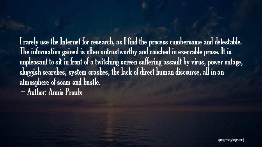 Information System Quotes By Annie Proulx