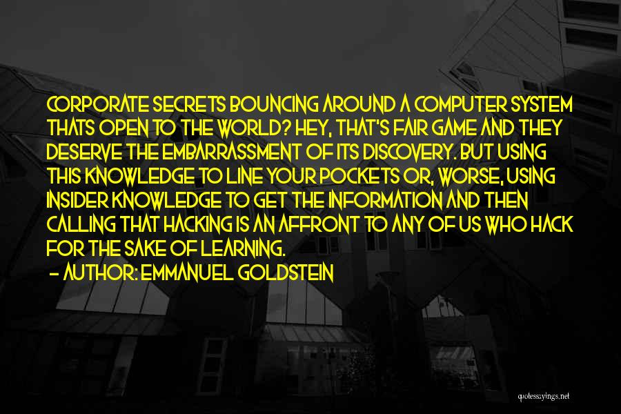Information System Quotes By Emmanuel Goldstein