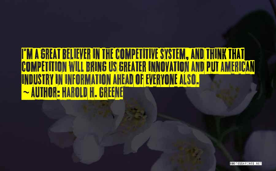 Information System Quotes By Harold H. Greene
