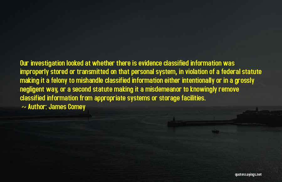 Information System Quotes By James Comey