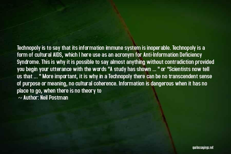 Information System Quotes By Neil Postman