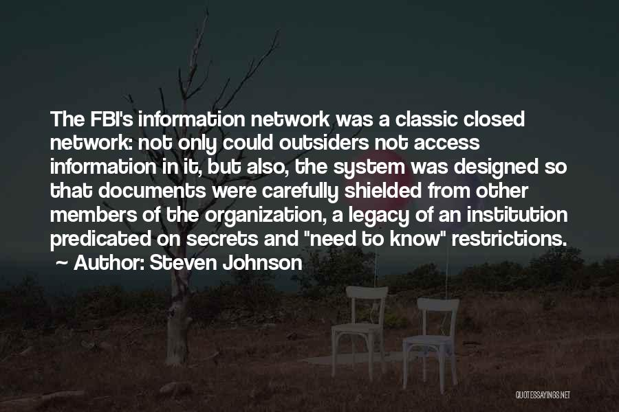 Information System Quotes By Steven Johnson