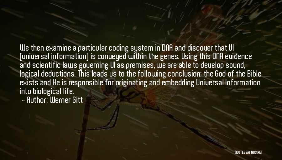 Information System Quotes By Werner Gitt