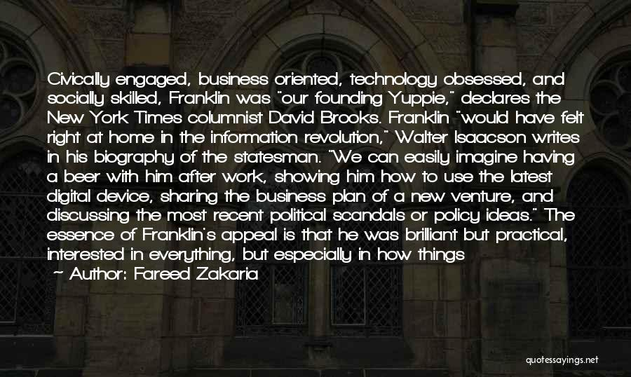 Information Technology In Business Quotes By Fareed Zakaria