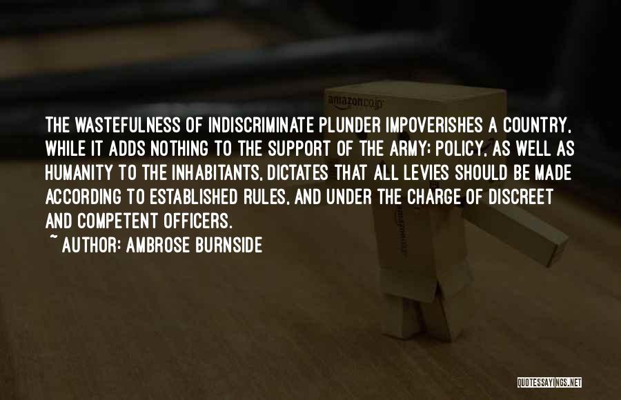 Inhabitants Quotes By Ambrose Burnside