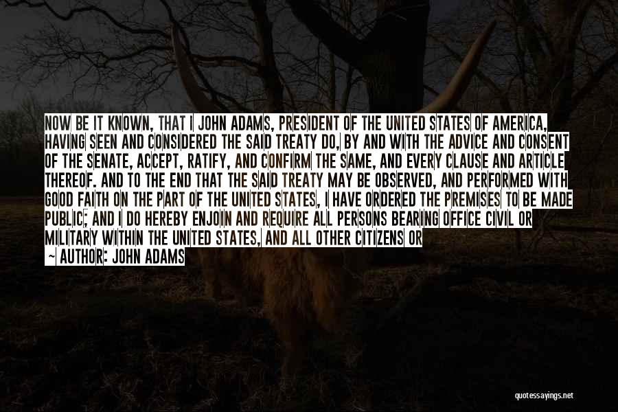 Inhabitants Quotes By John Adams