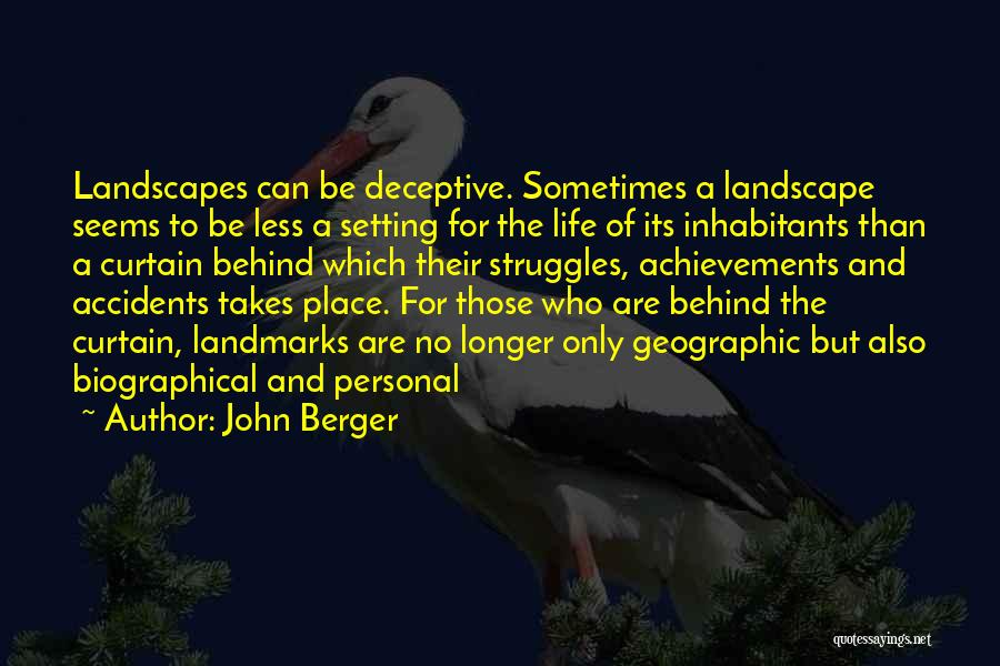 Inhabitants Quotes By John Berger