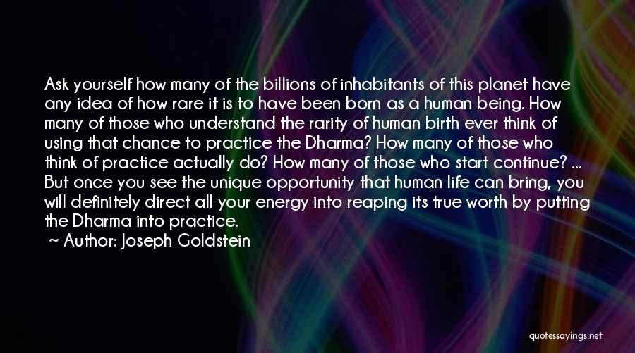 Inhabitants Quotes By Joseph Goldstein