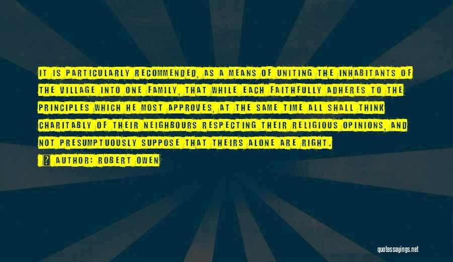 Inhabitants Quotes By Robert Owen