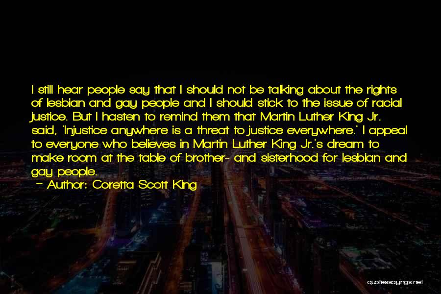 Injustice Martin Luther King Quotes By Coretta Scott King