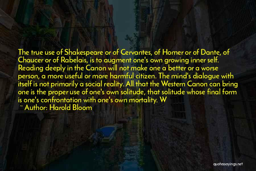 Inner Dialogue Quotes By Harold Bloom