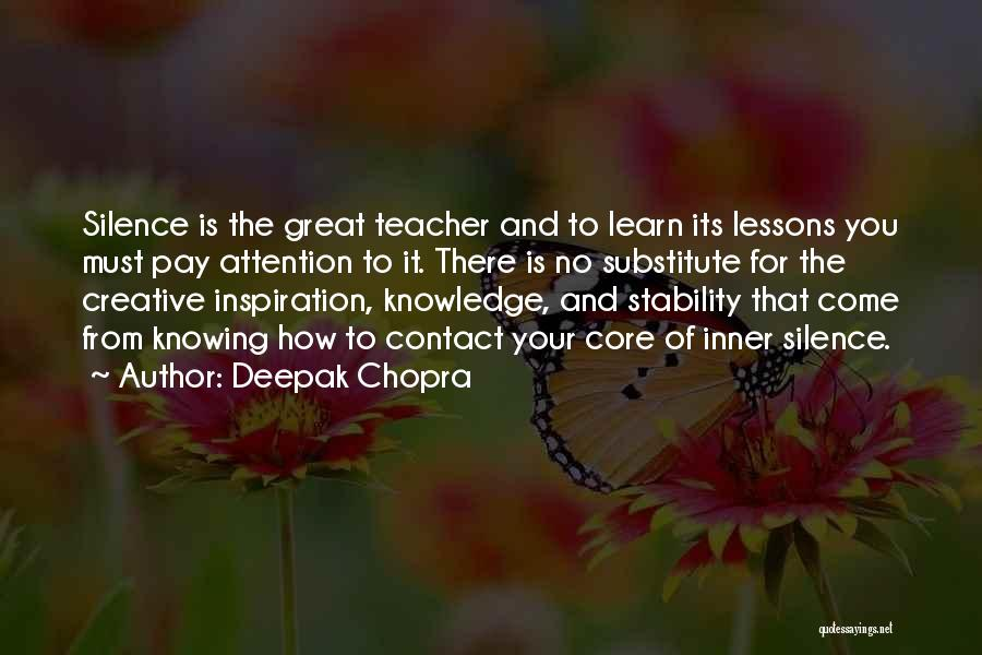 Inner Stability Quotes By Deepak Chopra