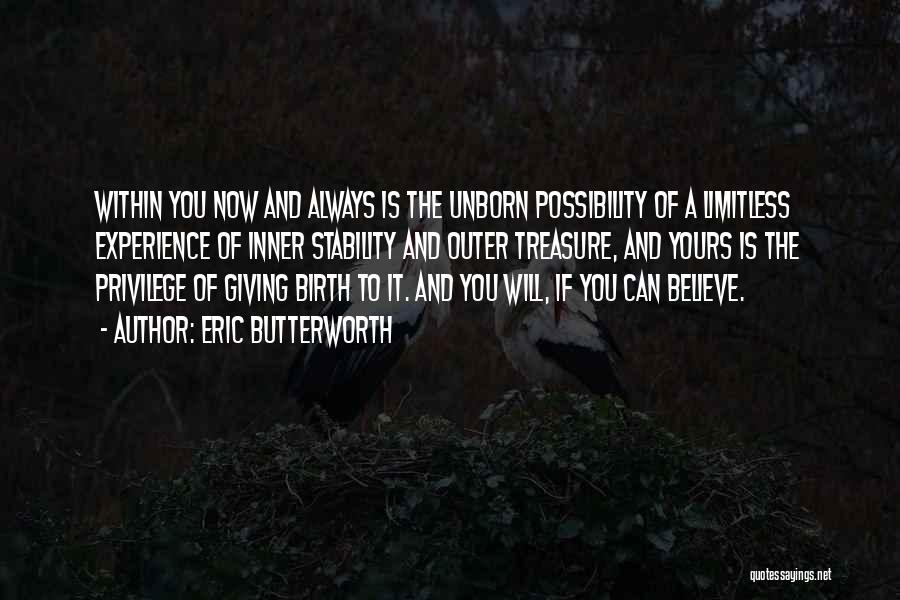 Inner Stability Quotes By Eric Butterworth