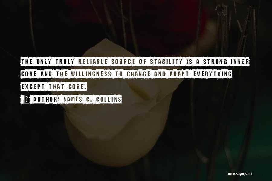 Inner Stability Quotes By James C. Collins