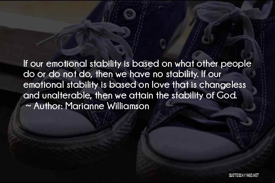 Inner Stability Quotes By Marianne Williamson