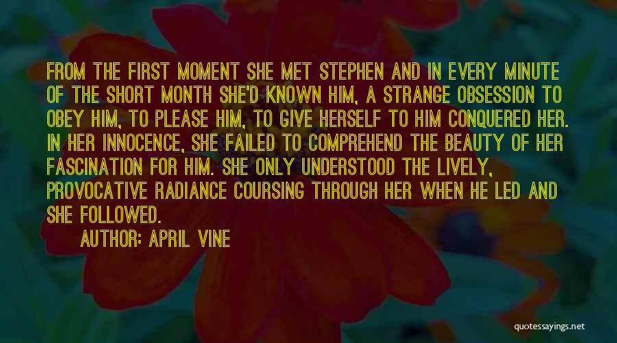 Innocence And Beauty Quotes By April Vine